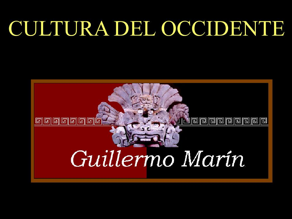 Cultura Del Occidente