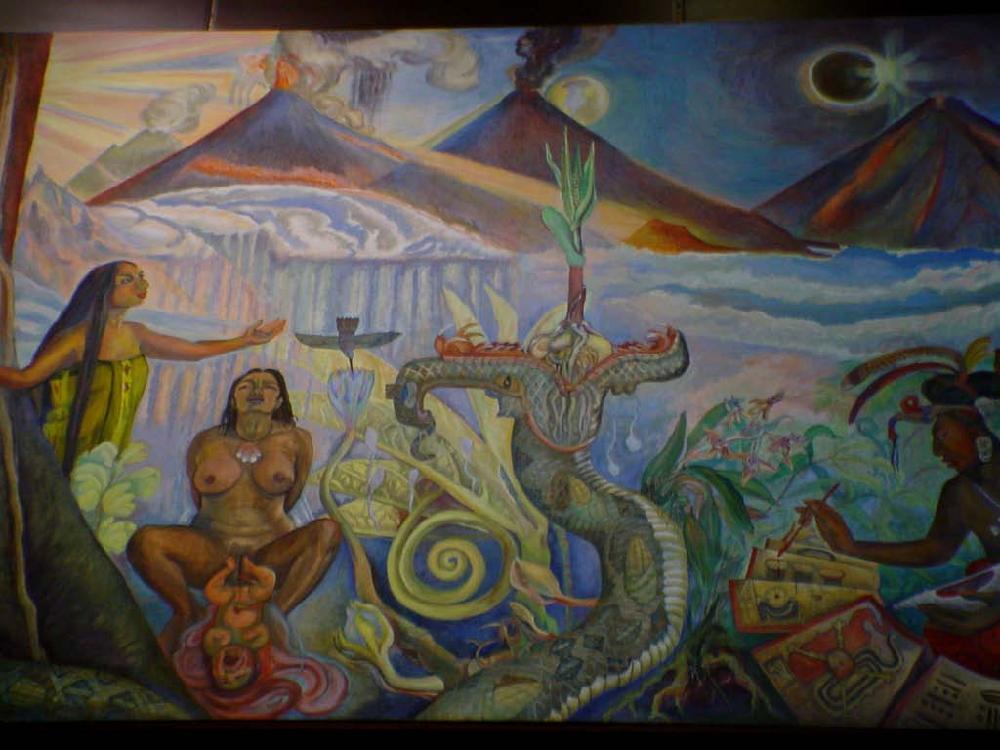 Murales del museo nacional de antropologia e historia
