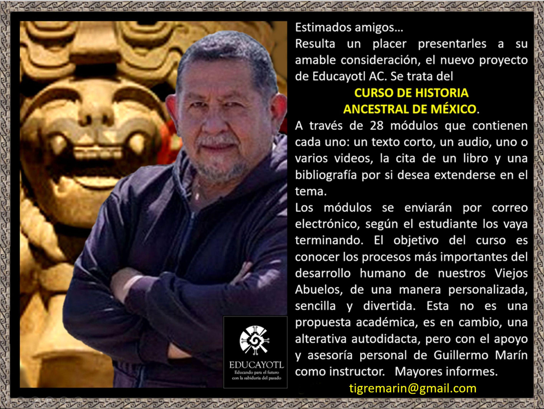 127. PROMO CURSO DE HISTORIA ANCESTRAL DE MÉXICO. Video
